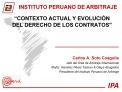 CONTEXTO ACTUAL Y EVOLUCI N DEL DERECHO DE LOS CONTRATOS