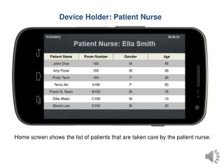 Device Holder: Patient Nurse