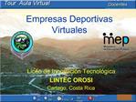 Empresas Deportivas Virtuales