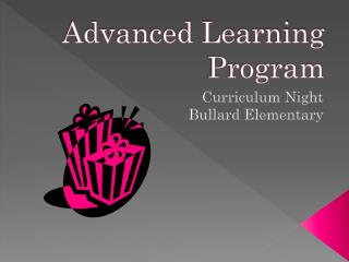 Advanced Learning Program