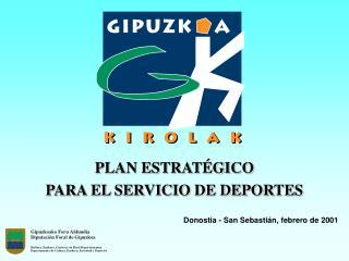 PLAN ESTRAT GICO PARA EL SERVICIO DE DEPORTES