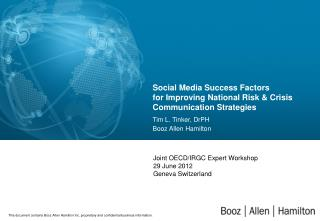 Social Media Success Factors  for Improving National Risk & Crisis  Communication Strategies
