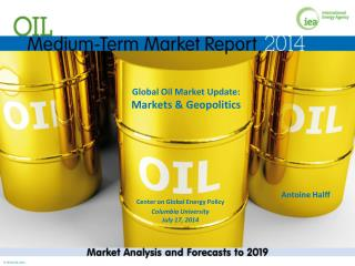 Global Oil Market Update:  Markets & Geopolitics