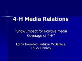 4-H Media Relations