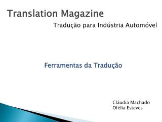 Translation Magazine