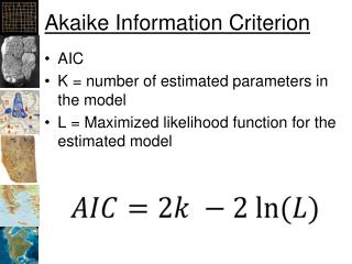 Akaike Information Criterion