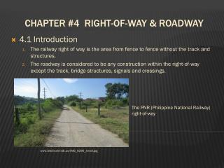 Chapter 4  Right-of-way  Roadway