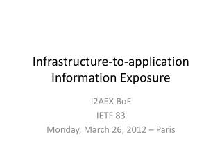Infrastructure-to-application Information Exposure