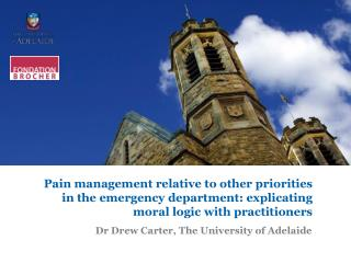 Dr Drew Carter, The University of Adelaide