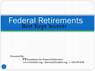 Federal Retirements