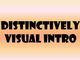 Distinctively Visual Intro