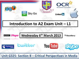 Introduction to A2 Exam Unit � L1