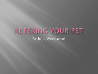 Altering Your Pet