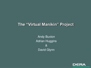 The  Virtual Manikin  Project