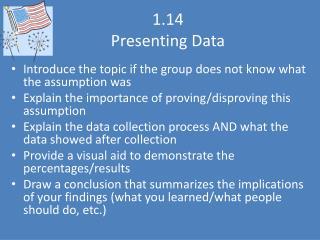 1.14 Presenting Data