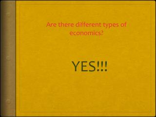 Are there different types of economics?