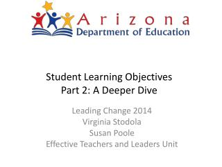 Student Learning Objectives Part 2: A Deeper Dive