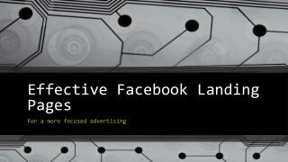 Effective Facebook Landing Pages