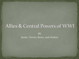 Allies & Central Powers of WWI