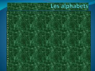 Les alphabets