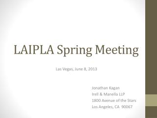 LAIPLA  Spring Meeting