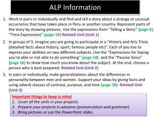 ALP Information