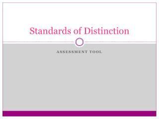 Standards of Distinction