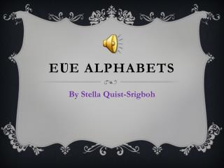Eʋe  Alphabets