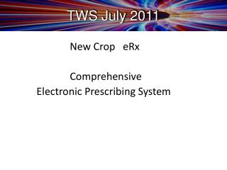 TWS July 2011