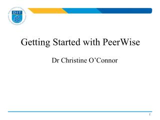 Getting Started with  PeerWise