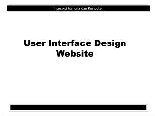 User Interface Design Website