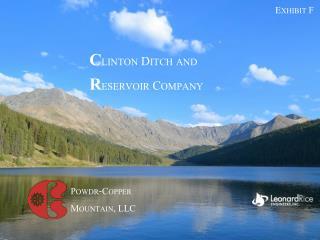 C linton  Di tch and  R eservoir Company
