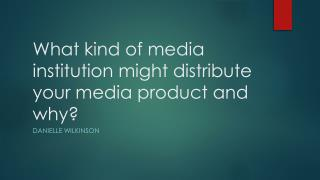 What kind of media institution might distribute your media product and why ?