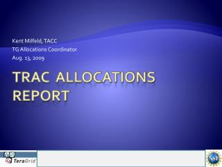 TRAC  Allocations Report