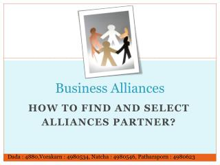 Business Alliances