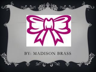 By: Madison Brass