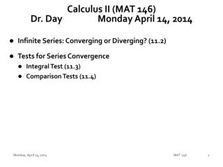 Calculus II (MAT 146) Dr. Day		Monday April 14, 2014