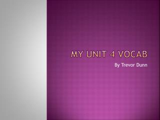 My unit 4 vocab