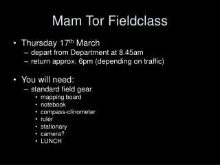 Mam Tor Fieldclass