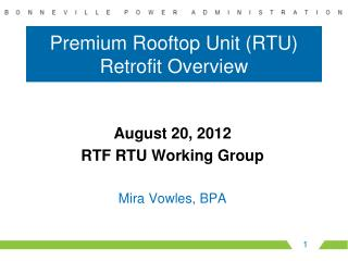 Premium Rooftop Unit (RTU) Retrofit Overview