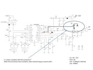 Vin : 8V – 32V Vout  : 6V Iout  : 0.3A( typ ) 1.6A(max) Fsw  : 400kHz
