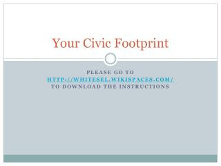 Your Civic Footprint