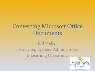 Converting Microsoft Office Documents