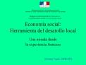 Econom a social:  Herramienta del desarollo local