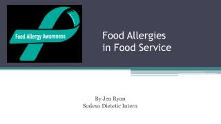 Food Allergies in Food Service