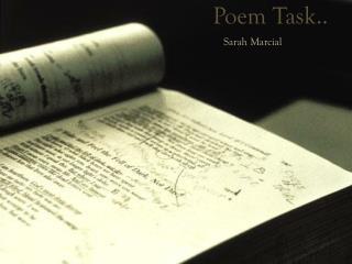 Poem Task..