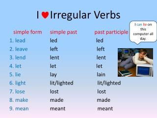I    Irregular Verbs