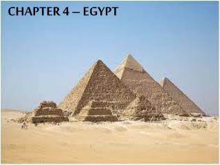 CHAPTER 4 –  EGYPT