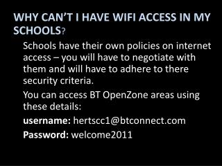 WHY CAN'T I HAVE WIFI ACCESS IN MY SCHOOLS ?