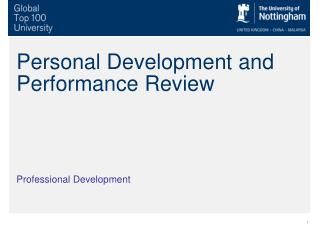 Personal Development and Performance Review